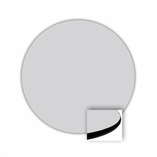 "Wholesale 36"" Round Top, Light Gray, Rounded Edge 