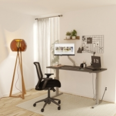 "24"" x 60"" EXECUTIVE Home Office Sit To Stand Computer Desk and Ergonomic Chair"