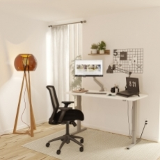 CONFIGURABLE EXECUTIVE Home Office Sit To Stand Computer Desk