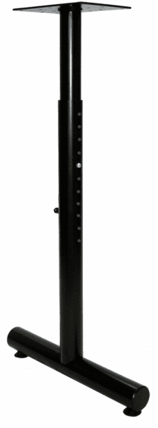 Adjustable Height - Single Column T-Legs | Legs&Bases