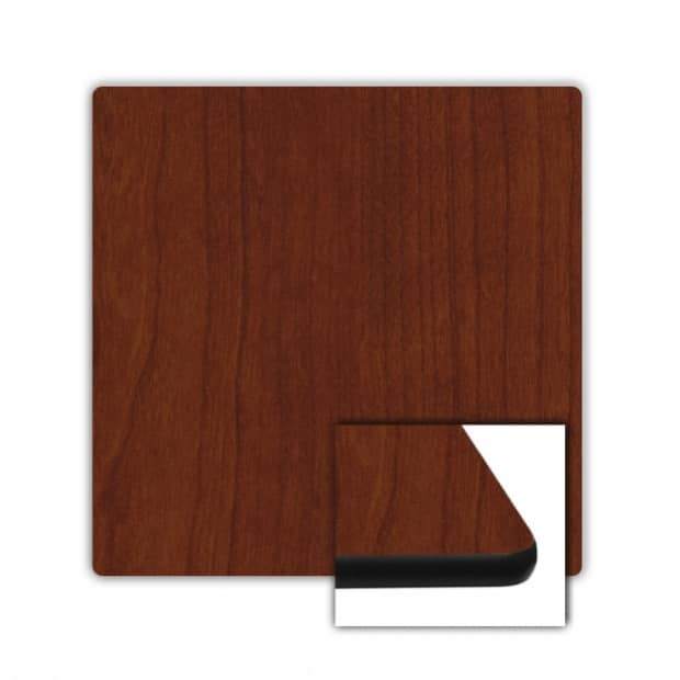 "42"" x 42"" Square Top, Mahogany, Rounded Edge 