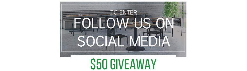 Social Media $50 Giveaway